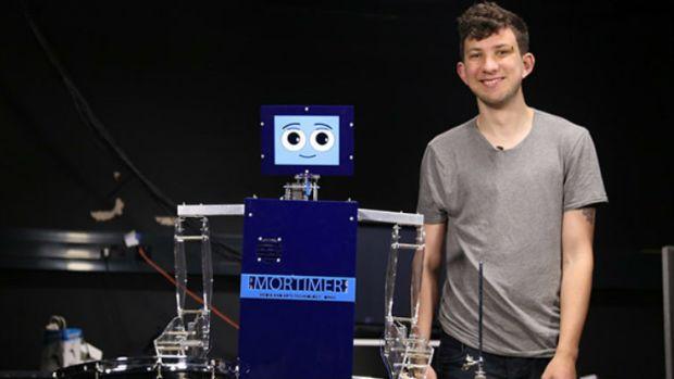 Mortimer drumming Robot QMUOL