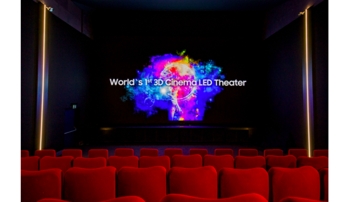 Samsung has installed the world's first 3D Cinema LED screen at the Arena Sihlcity cinema complex in Switzerland.