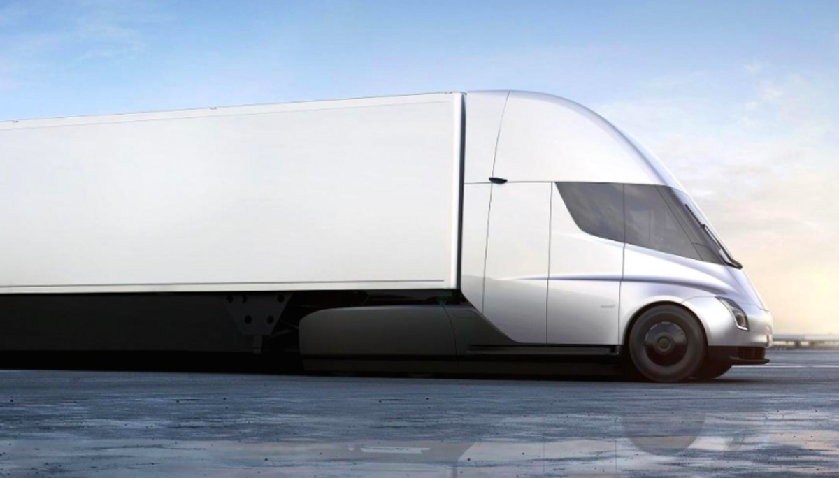 Tesla's fully electric Class 8 electric semi-tractor trailer weighs more than 33,000 pounds and features self-driving capabilities connected to the fleet's management systems.