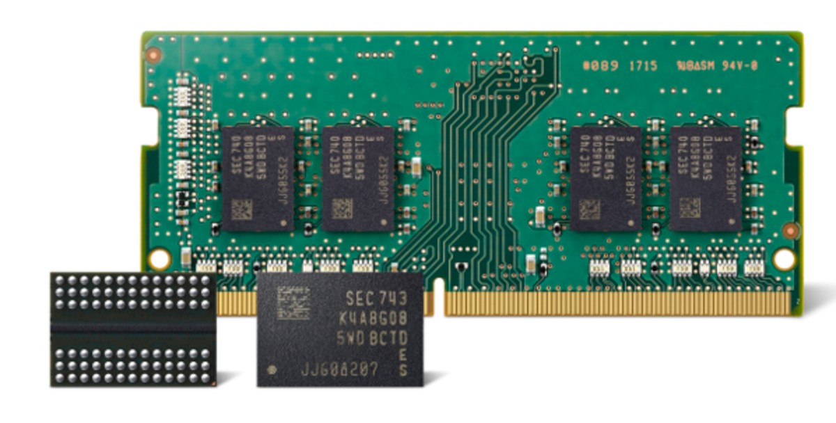 Samsung's DDR4 features an approximate 30 percent productivity gain over the company's 1st–generation 10nm-class 8Gb DDR4.